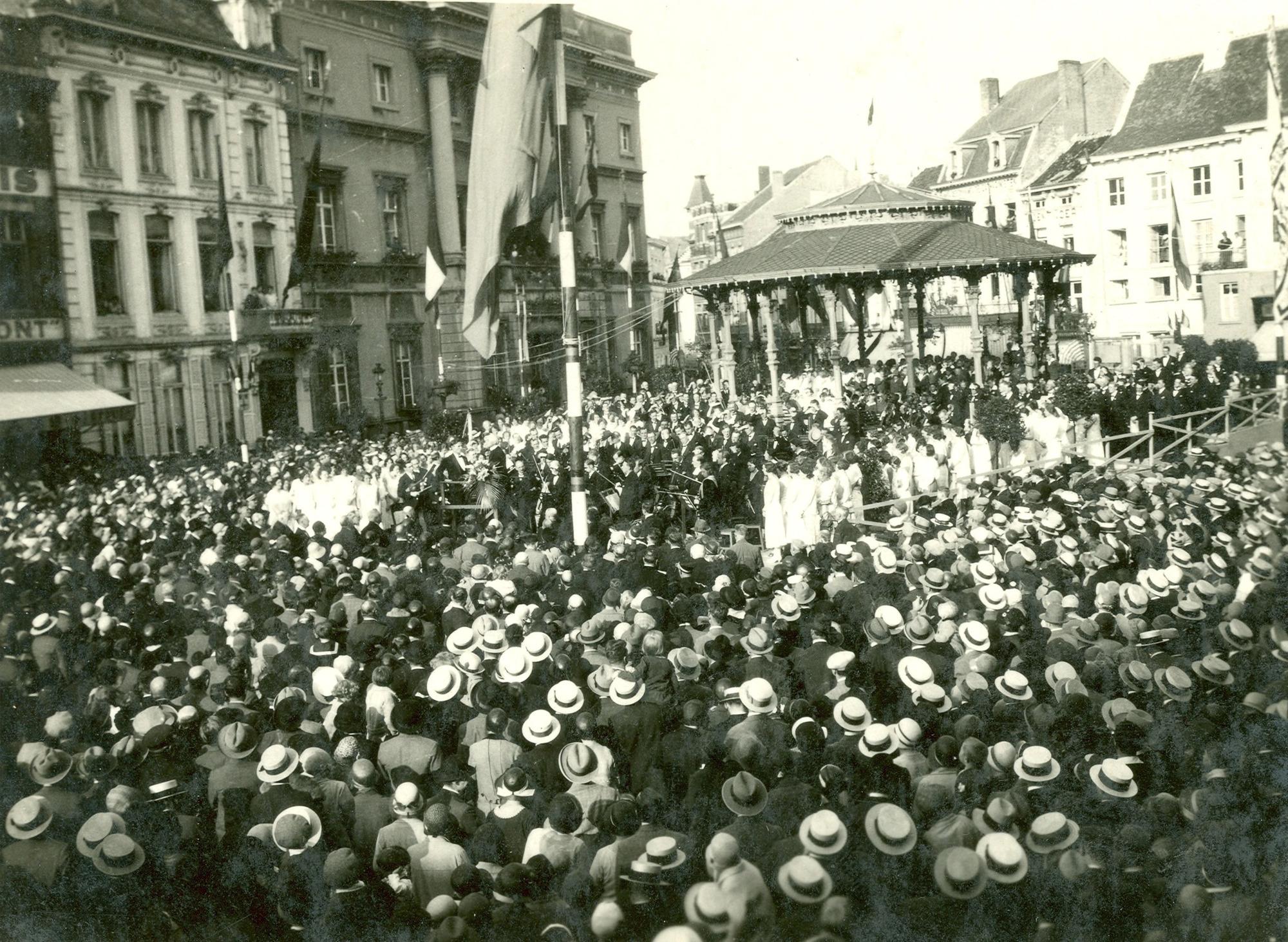 Rubenscantate op de Aalsterse Grote Markt, 1930