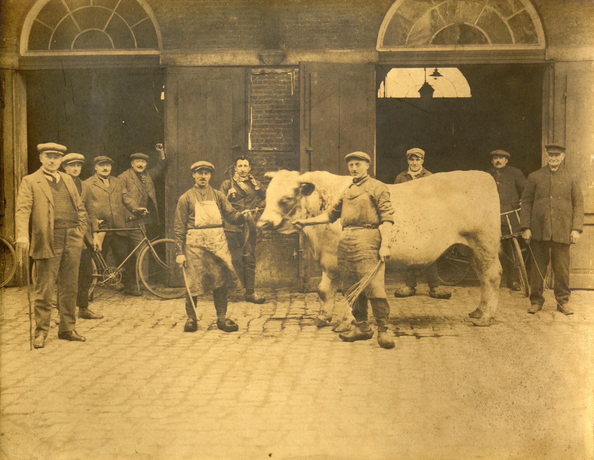 Stedelijk slachthuis op de Moorselbaan, jaren 1910